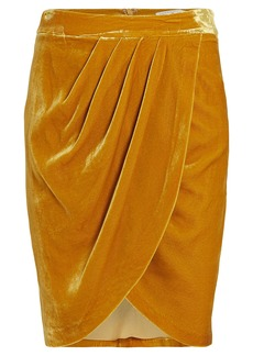 Veronica Beard Vega Velvet Wrap Skirt