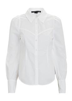 Veronica Beard Verani Puff Sleeve Button-Down Shirt