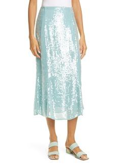 Veronica Beard Abigail Sequin Midi Skirt