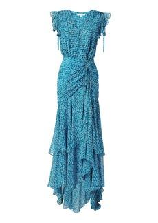 Veronica Beard Samara Ruched Midi Dress