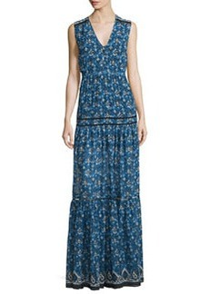 Veronica Beard Tecate Tiered Multipattern Maxi Dress