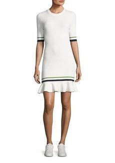 Veronica Beard Ace Short-Sleeve Novel Stitch Dress