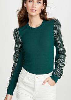 Veronica Beard Adler Mixed Media Sweater