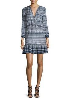 Veronica Beard Agathe Silk Multipattern Dress