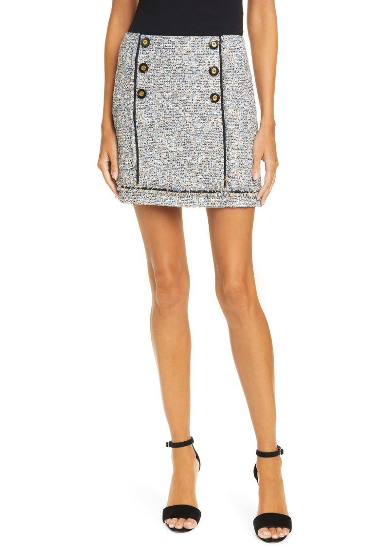Veronica Beard Alfie Tweed Miniskirt