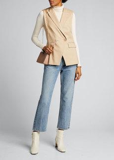 Veronica Beard Anouka Linen-Blend Vest