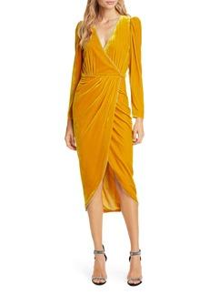 Veronica Beard Anthea Long Sleeve Velvet Dress