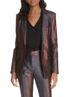 Veronica Beard Ashburn Metallic Blazer