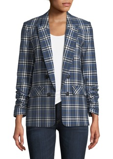Veronica Beard Beacon Double-Breasted Plaid Blazer