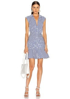 Veronica Beard Bell Bottom Ruched Dress