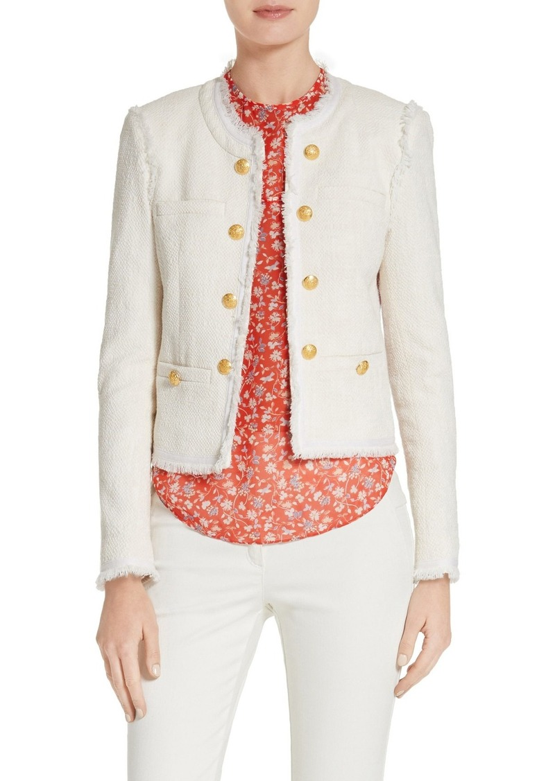 Veronica Beard Betsy Lace Back Tweed Jacket