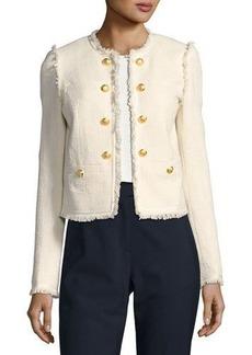 Veronica Beard Betsy Lace-Back Tweed Jacket