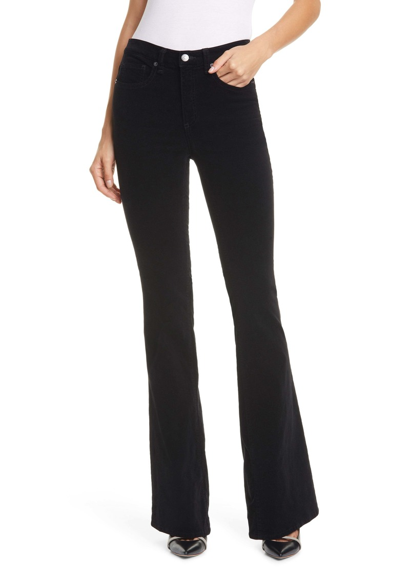 Veronica Beard Beverly Skinny Flare Velvet Pants