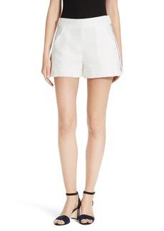 Veronica Beard Blair Textured High Waist Shorts