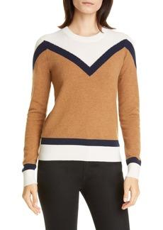 Veronica Beard Bradford Stripe Cashmere Sweater