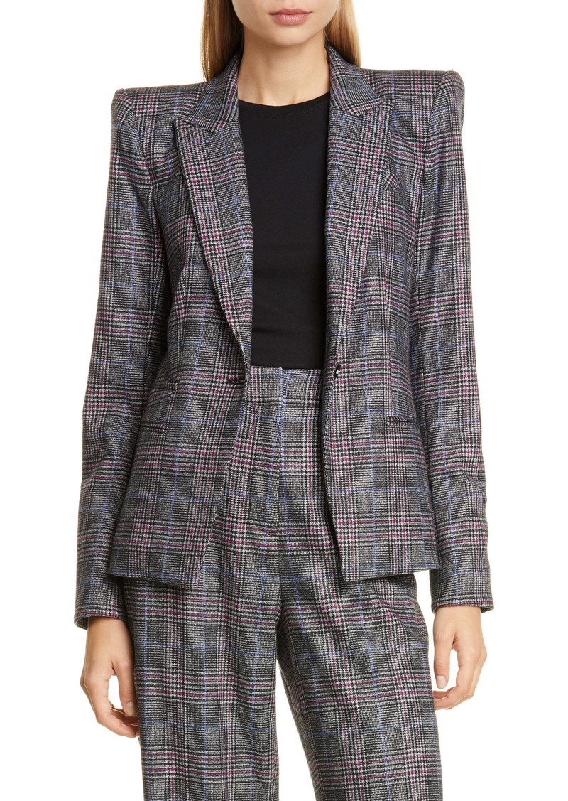 Veronica Beard Brock Glen Plaid Dickey Blazer