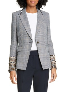 Veronica Beard Bronley Dickey Embroidered Jacket
