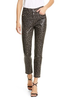 Veronica Beard Brooke Leopard Print Skinny Jeans