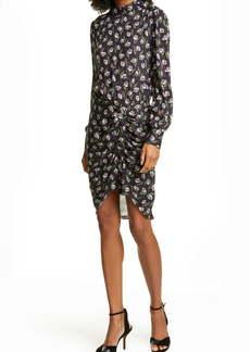 Veronica Beard Cadence Long Sleeve Stretch Silk Dress