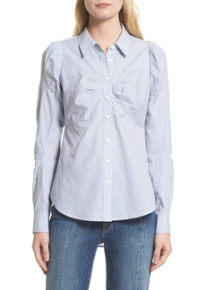 Veronica Beard Canteen Puff Sleeve Blouse (Nordstrom Exclusive)