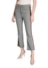 Veronica Beard Carolyn Baby Boot-Cut Tuxedo-Striped Jeans