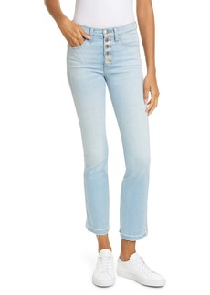 Veronica Beard Carolyn Crop Baby Boot Jeans (Aire)