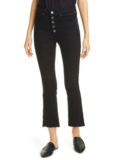 Veronica Beard Carolyn Tuxedo Stripe Baby Bootcut Jeans (Raven)