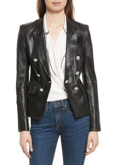 Veronica Beard Cooke Leather Jacket