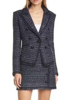 Veronica Beard Cooke Tweed Dickey Jacket