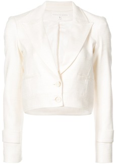 Veronica Beard cropped buttoned up jacket - White