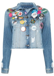 Veronica Beard cropped pin jacket - Blue