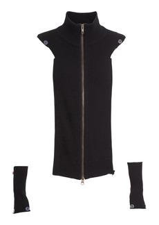 Veronica Beard 'Crystal' Cashmere Turtleneck Dickey & Cuffs