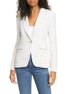 Veronica Beard Cutaway Tweed Dickey Jacket
