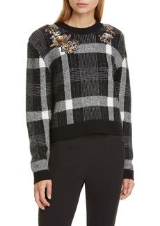 Veronica Beard Deana Embellished Sweater