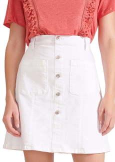 Veronica Beard Deena Patch Pocket Denim Miniskirt