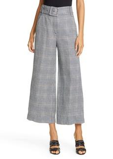 Veronica Beard Dexter Glen Plaid Crop Wide Leg Pants
