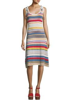 Veronica Beard Dulce Metallic Striped Dress