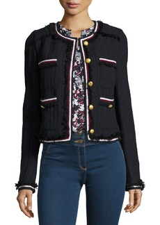 Veronica Beard Eclipse Cropped Tweed Jacket