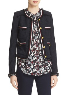 Veronica Beard Eclipse Fringe Trim Jacket