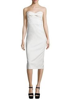 Veronica Beard Edelia Strapless Bustier Dress