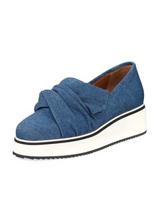 Veronica Beard Effie Denim Platform Sneaker