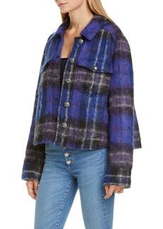 Veronica Beard Emmons Plaid Crop Jacket