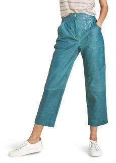 Veronica Beard Enrica Patch Pocket Leather Pants