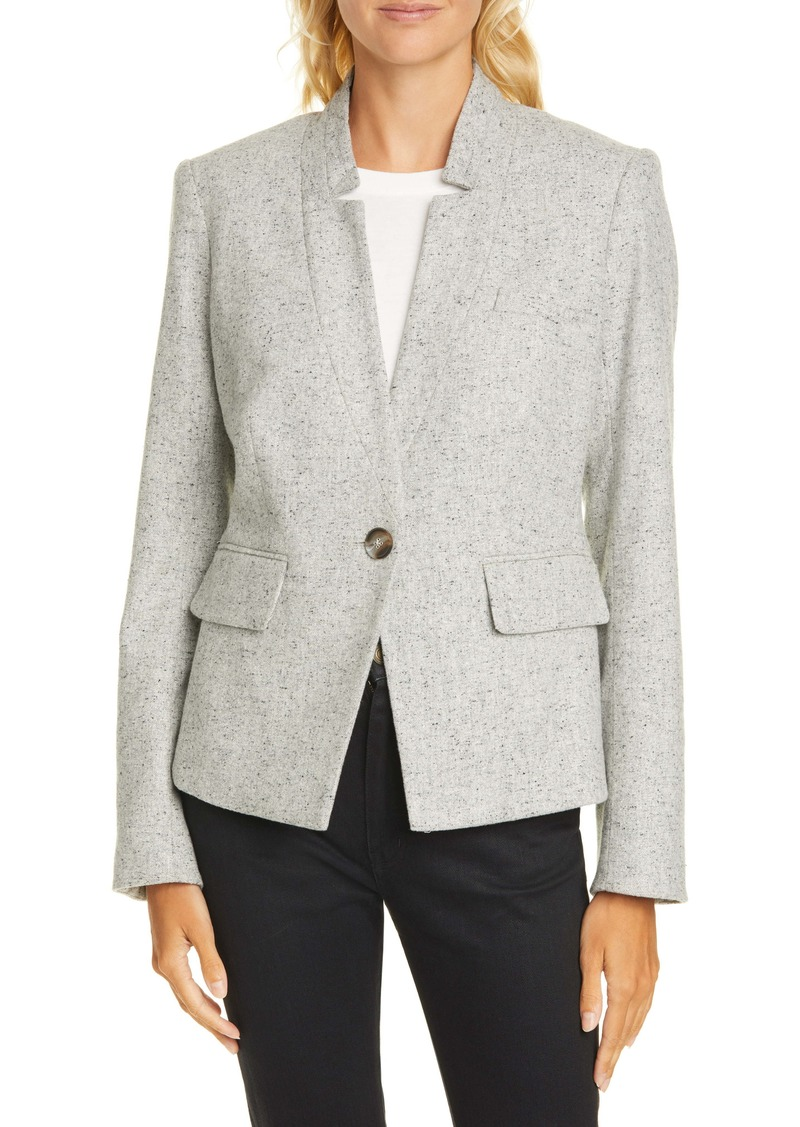 Veronica Beard Farley Wool & Silk Blend Dickey Jacket