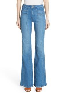 Veronica Beard Farrah Wide Leg Jeans (Boardwalk)