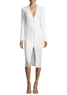 Veronica Beard Firefly Long-Sleeve Ponte Sheath Dress