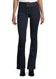 Veronica Beard Flare-Leg Dark Stretch Jeans