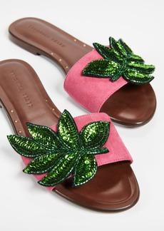Veronica Beard Flor Flat Sandals