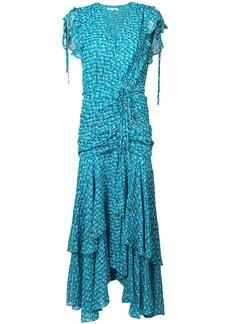 Veronica Beard floral print tiered dress - Blue