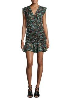 Veronica Beard Floral Silk Waterfall Dress